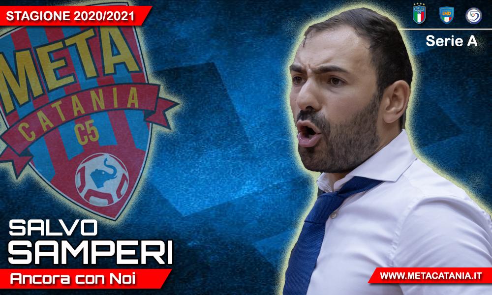 Ufficiale: Coach Salvo Samperi ancora con noi