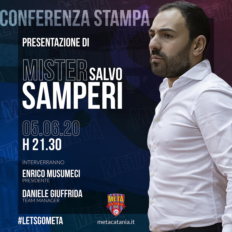 Ore 21:30 diretta streaming Presentazione coach Samperi con una grande sorpresa…