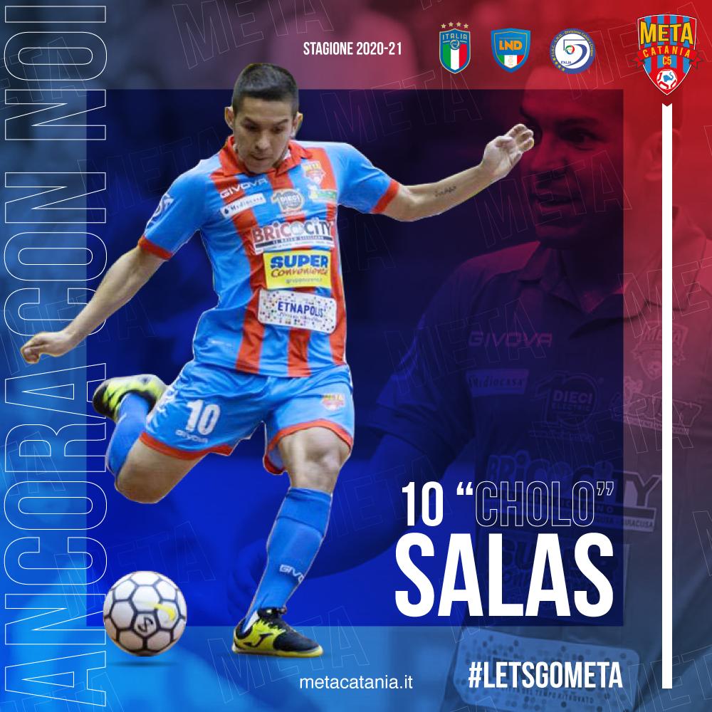 """Ufficiale: il """"Cholo"""" Salas è ancora della Meta Catania"""