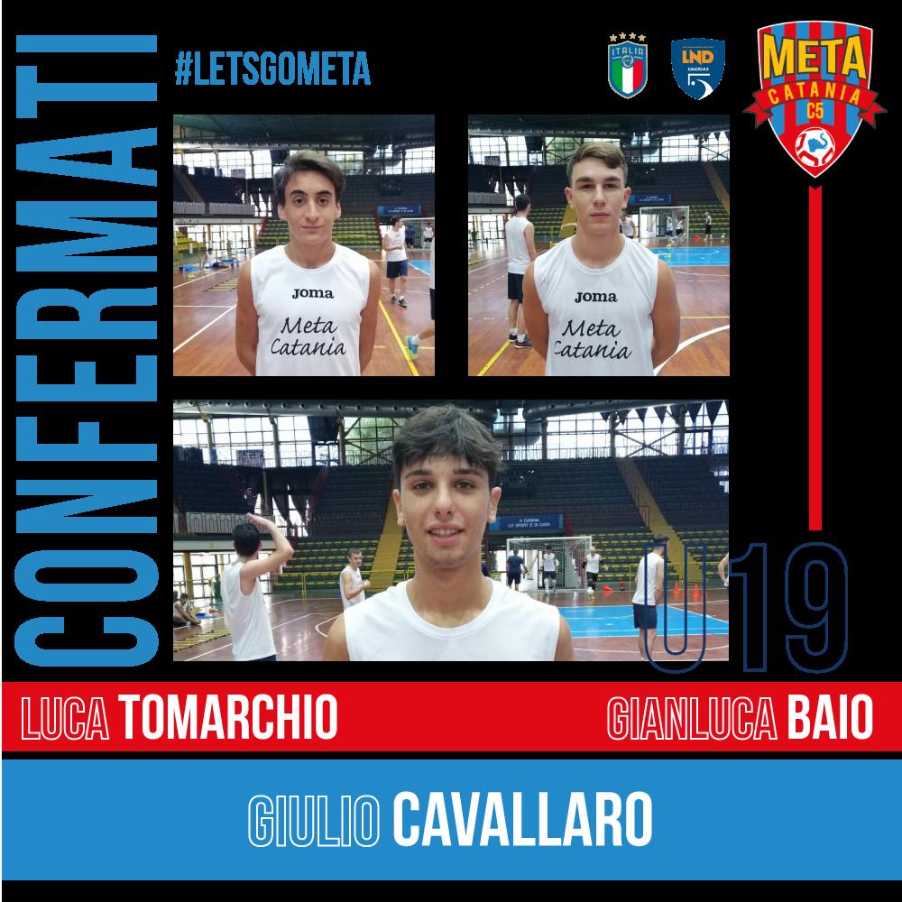 Ufficiale: Tomarchio, Baio e Cavallaro confermato il Tris Under 19
