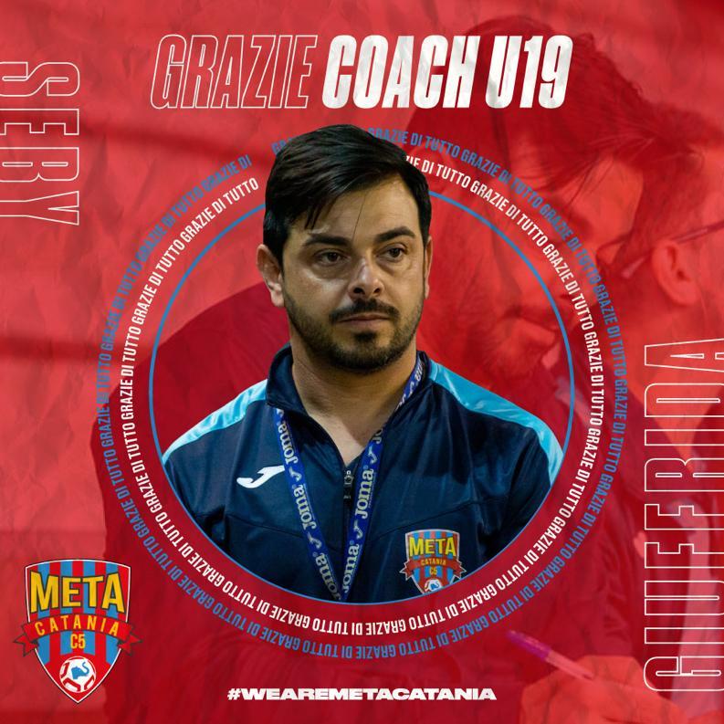 La Meta Catania Bricocity ringrazia coach Seby Giuffrida