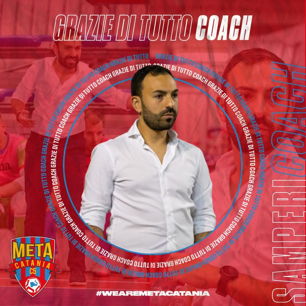 Ufficiale: grazie coach Salvo Samperi.